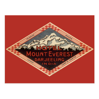Vintage Travel, Mount Everest, Darjeeling India Postcard
