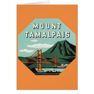 Vintage Travel, Mount Tam, Tamalpais Mountain Card