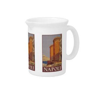 Vintage Travel Napoli Naples Italy pitcher