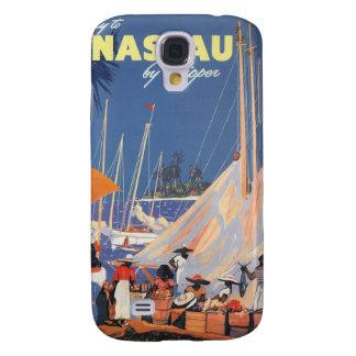 Vintage Travel, Nassau Harbor, Florida, Sailboats Galaxy S4 Case
