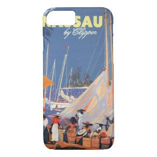 Vintage Travel, Nassau Harbor, Florida, Sailboats iPhone 8/7 Case