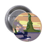 Vintage Travel, New York City, Statue of Liberty Pinback Buttons