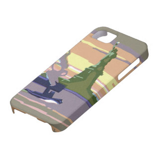Vintage Travel, New York City, Statue of Liberty Barely There iPhone 5 Case