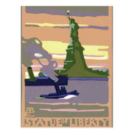 Vintage Travel, New York City, Statue of Liberty Postcard