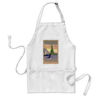Vintage Travel, New York City, Statue of Liberty Standard Apron