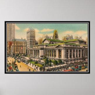 Vintage travel New York City USA - Print