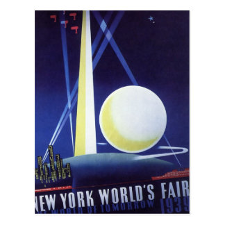 Vintage Travel, New York City World's Fair 1939 Postcard