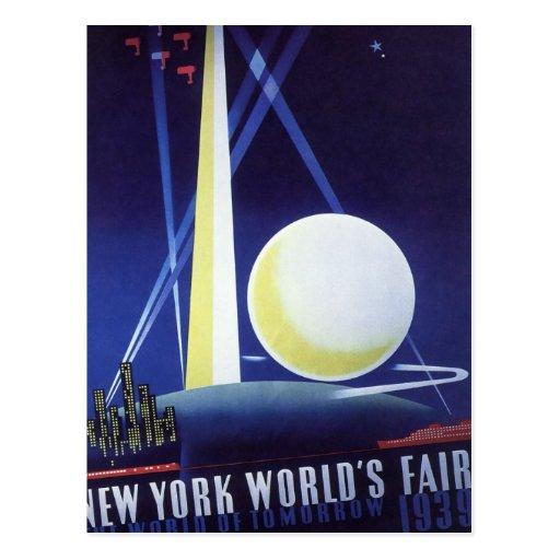 Vintage Travel, New York City World's Fair 1939 Postcards