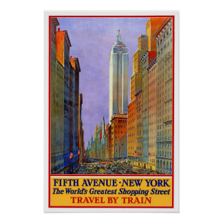 Vintage travel,New York Poster