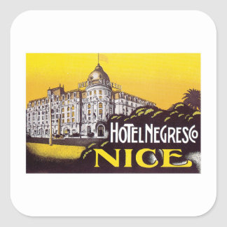 Vintage Travel Nice France Hotel Label Art
