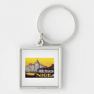Vintage Travel Nice France Hotel Label Art Key Chains