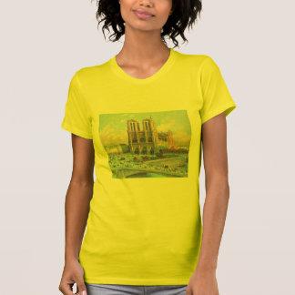 Vintage Travel Notre Dame de Paris Tee Shirts