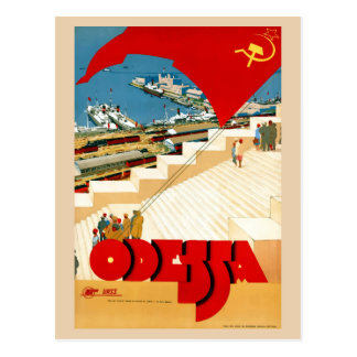 Vintage Travel Odessa Ukraine Soviet Union Postcard