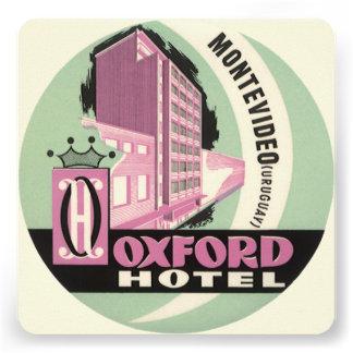 Vintage Travel Oxford Hotel Montevideo Uruguay Invite