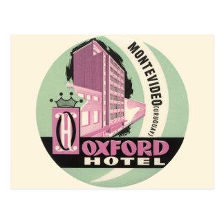 Vintage Travel, Oxford Hotel, Montevideo, Uruguay Postcard