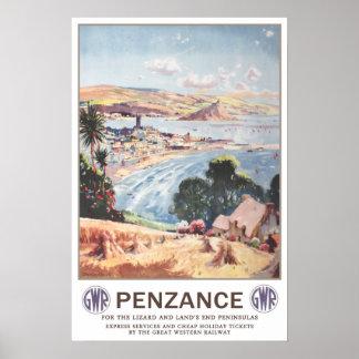 Vintage travel,Penzance. Posters