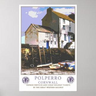 Vintage travel,Polperro. Posters