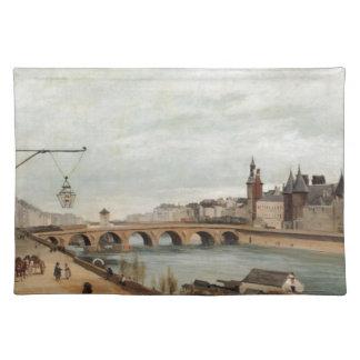 Vintage Travel Pont au Change France Place Mat