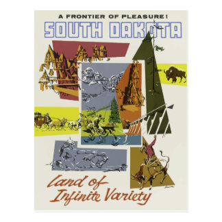 Vintage travel postcard South Dakota USA