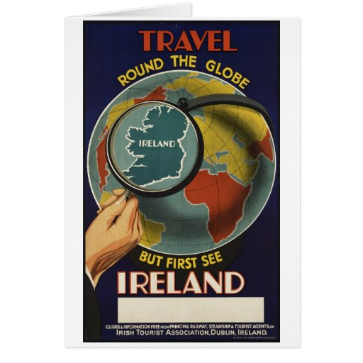 Vintage Travel Poster Ad Retro Prints Greeting Card