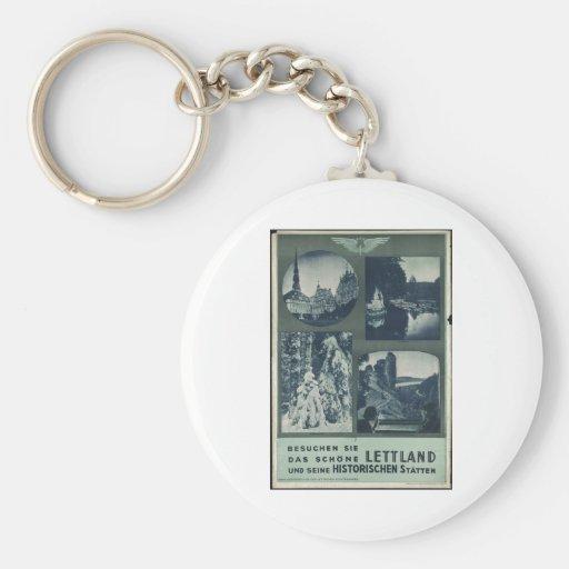 Vintage Travel Poster Ad Retro Prints Keychain