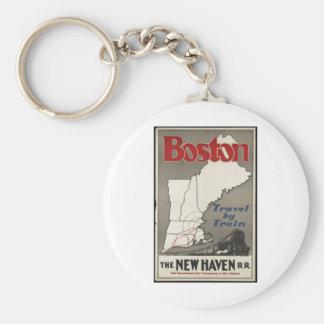 Vintage Travel Poster Ad Retro Prints Keychains