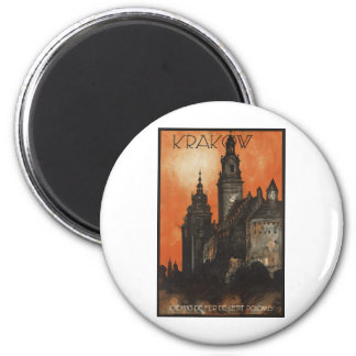 Vintage Travel Poster Ad Retro Prints 6 Cm Round Magnet