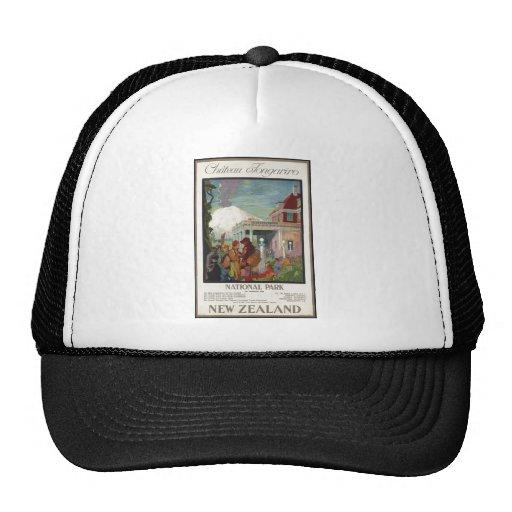 Vintage Travel Poster Ad Retro Prints Trucker Hat
