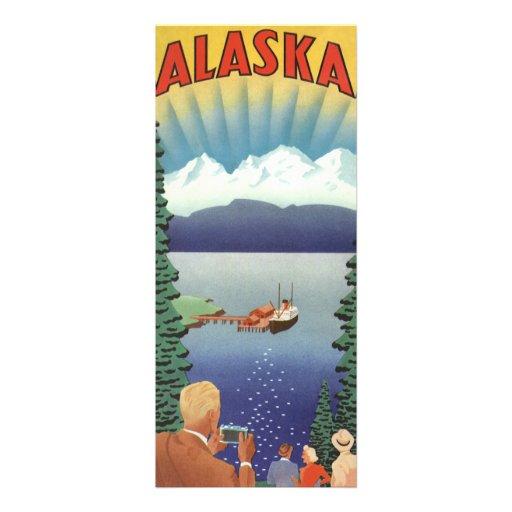 Vintage Travel Poster, Alaska Personalized Invitation