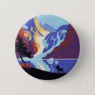 Vintage Travel Poster, Atlin and the Yukon, Alaska 6 Cm Round Badge
