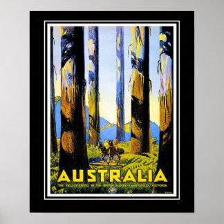 Vintage Travel Poster Australia Large Size Print