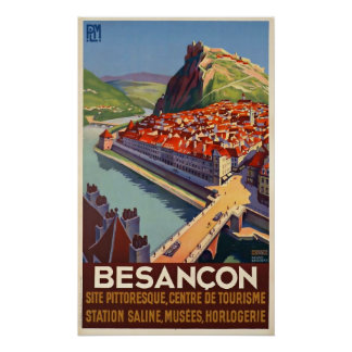 Vintage Travel Poster Besancon France