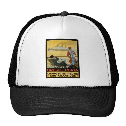 Vintage Travel Poster: Brazil South Atlantic Hats