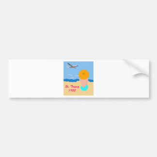 Vintage Travel Poster Bumper Sticker