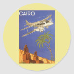 Vintage Travel Poster Cairo Egypt Africa Aeroplane