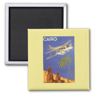 Vintage Travel Poster Cairo Egypt Africa Airplane Refrigerator Magnet