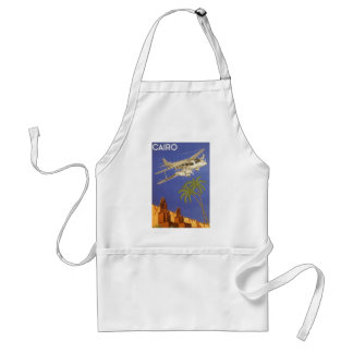 Vintage Travel Poster Cairo Egypt Africa Airplane Standard Apron
