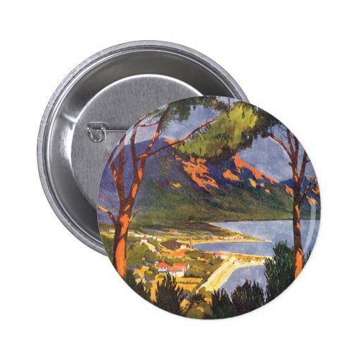 Vintage Travel Poster, Cape Town, South Africa 6 Cm Round Badge