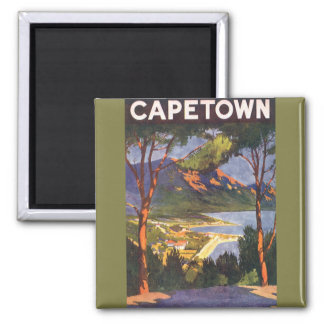 Vintage Travel Poster, Cape Town, South Africa Magnet