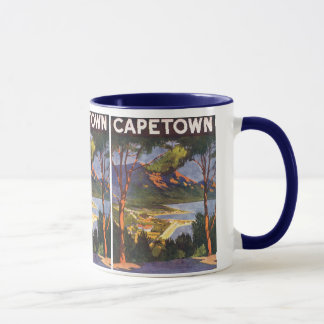 Vintage Travel Poster, Cape Town, South Africa Mug
