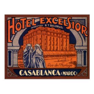 Vintage Travel Poster Casablanca Morocco Africa Postcard