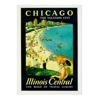 Vintage Travel Poster, Chicago, Illinois Poster