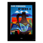 Vintage Travel  Poster Chile Print