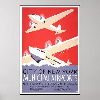 Vintage Travel Poster City Of New York Print