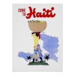 Vintage Travel Poster Come To Haiti