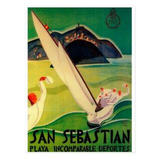 Vintage Travel Poster Donostia San Sebastian Postcard