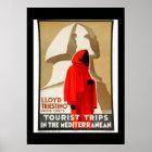 Vintage Travel Poster Egypt Mediterranean
