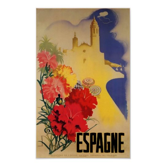 Vintage Travel Poster Espagne Spain Wall Deco Art