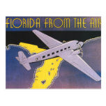 Vintage Travel Poster, Florida from Air Aeroplane Postcard