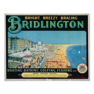 Vintage Travel Poster for Bridlington, England